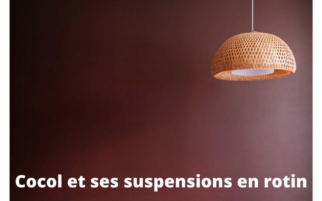 Cocol et ses suspensions en rotin